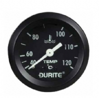 DURITE 52mm Water Temperature gauge,<br> Capilliary model<br>270 Degree sweep, 12 or 24volt
